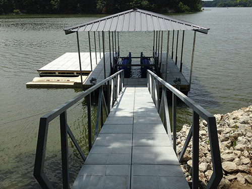 Galvanized ramps and railing