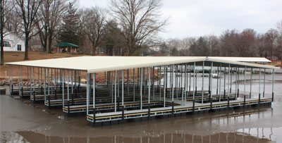 Covered Galvanized Floating Docks
