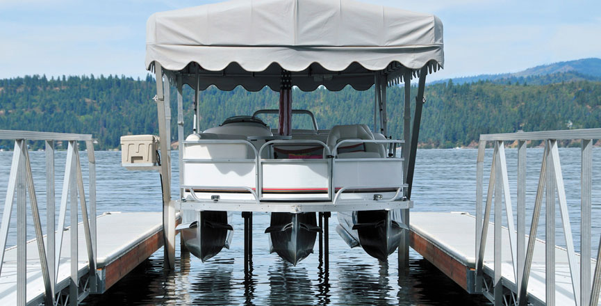 Pontoon Hydraulic Lift